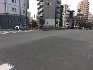 大塚駅の空蝉橋横の空蝉橋北交差点