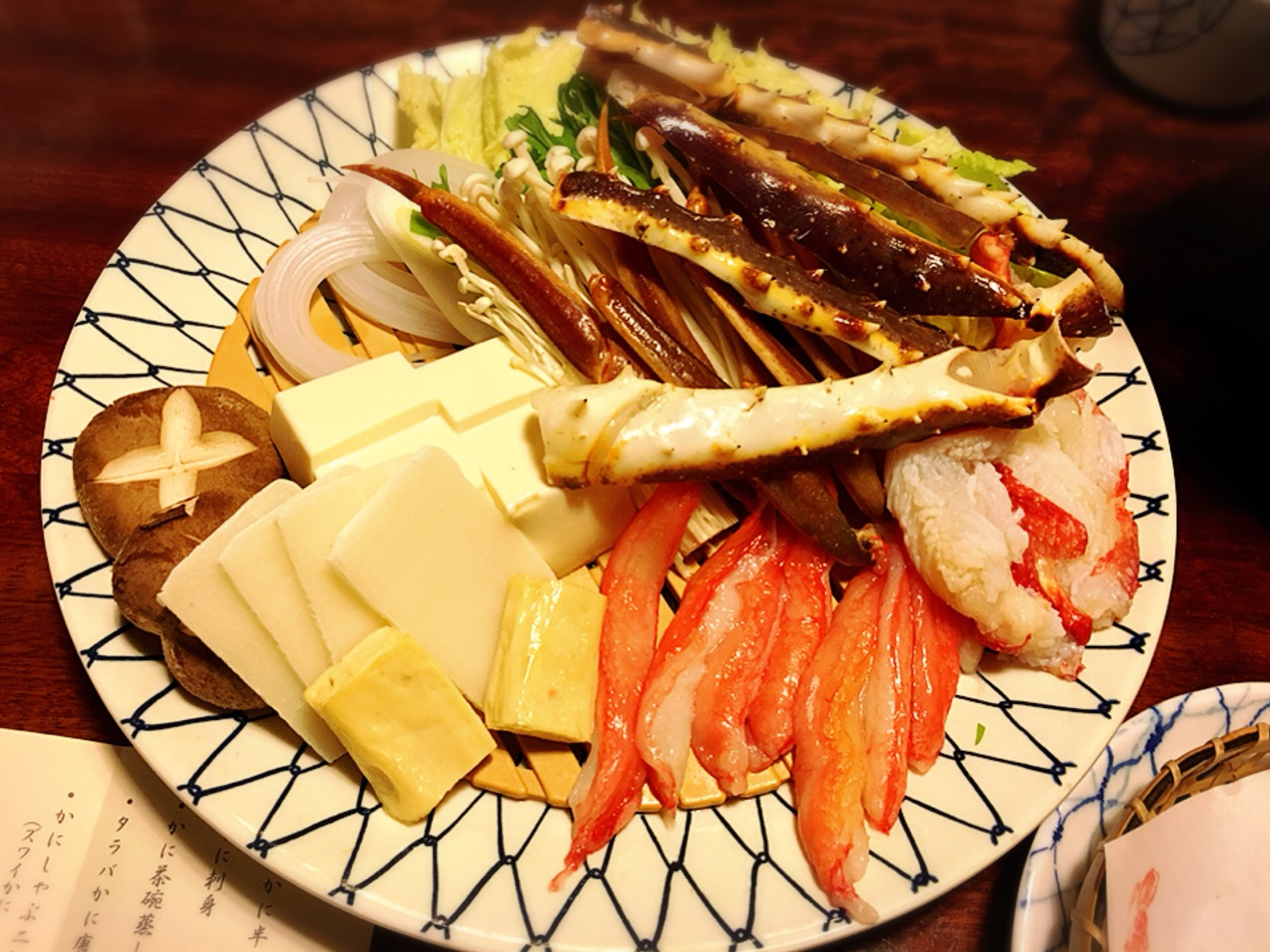 【新宿駅】贅の極み!蟹ざんまいで蟹に溺れる贅沢体験!豪華絢爛な「かに道楽」のかにしゃぶ会席冬景色のかにしゃぶ二種盛