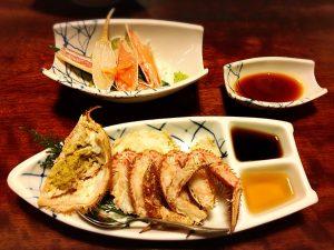 【新宿駅】はじめての「かに道楽」贅沢な蟹三昧大満足ううう!のかにしゃぶ会席冬景色の活毛かに半匹盛、かに刺