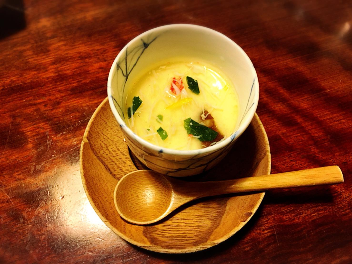 【新宿駅】贅の極み!蟹ざんまいで蟹に溺れる贅沢体験!豪華絢爛な「かに道楽」のかにしゃぶ会席冬景色のかに茶碗蒸し