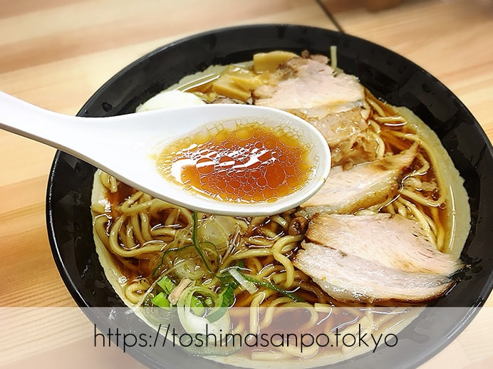 【大塚駅】行列必至。シンプルだけどクセになる味が超人気。夫婦で営む「北大塚ラーメン」のラーメンのスープ