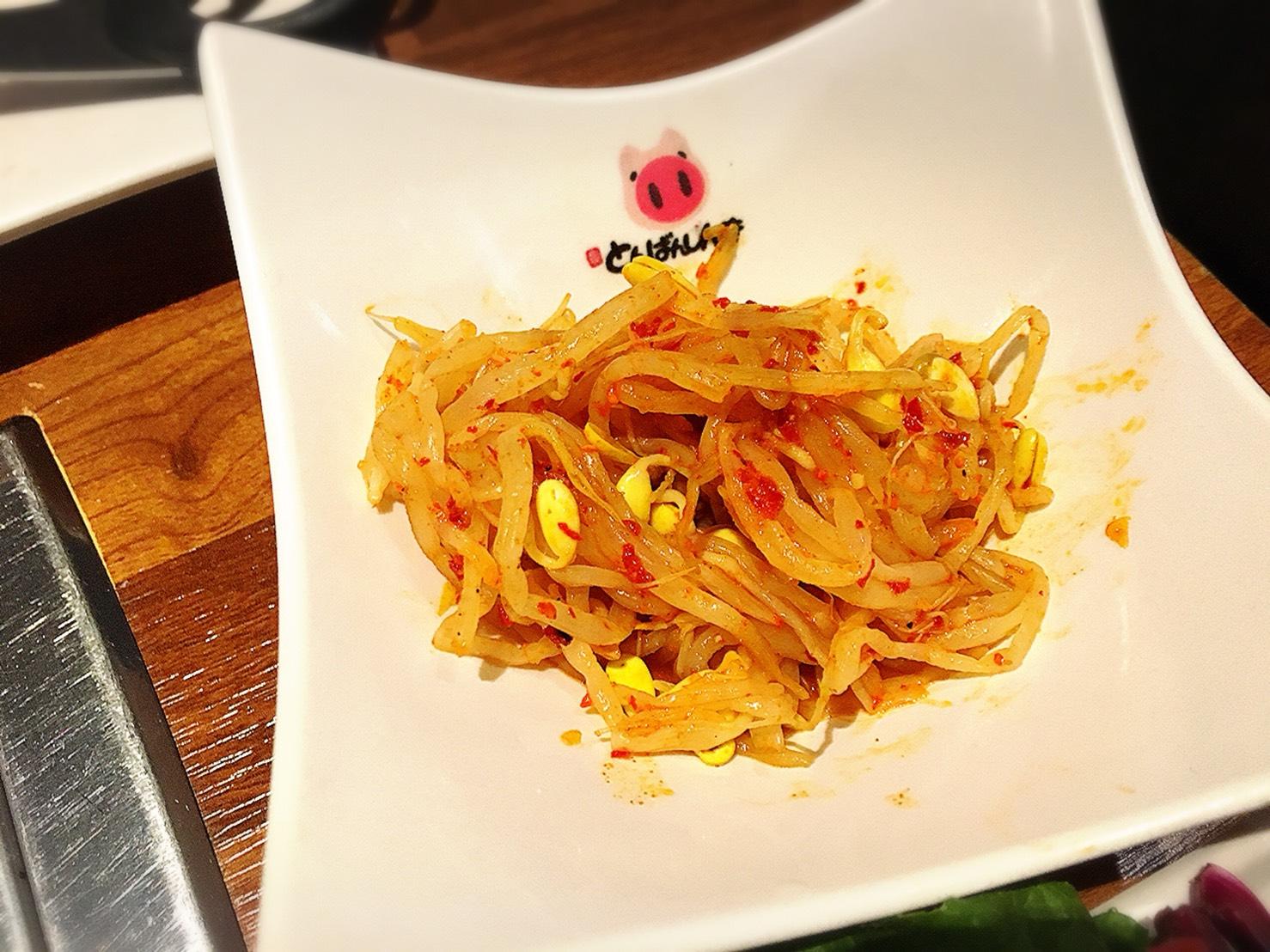 【池袋駅】学生人気高め!韓国料理1,980円食べ放題の激安!「トンチュヤ 池袋東口店」の豆もやしナムル