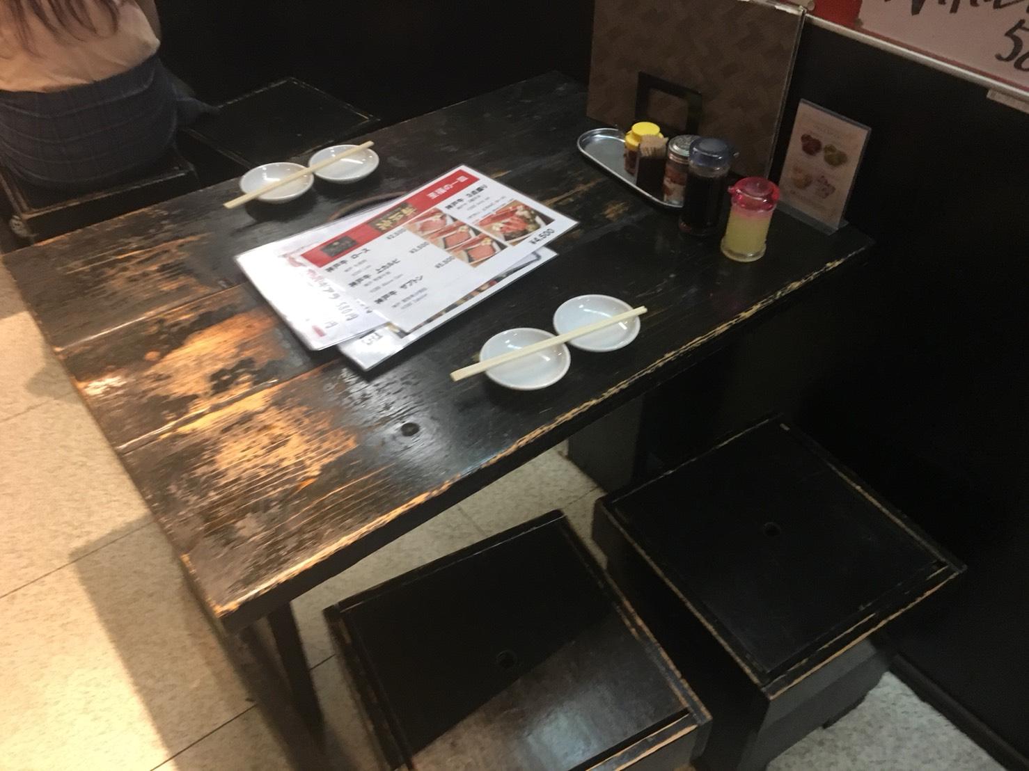 【池袋駅】夏!ホルモン食おうぜ作戦決行「ホルモン焼肉 縁 池袋店」のテーブル