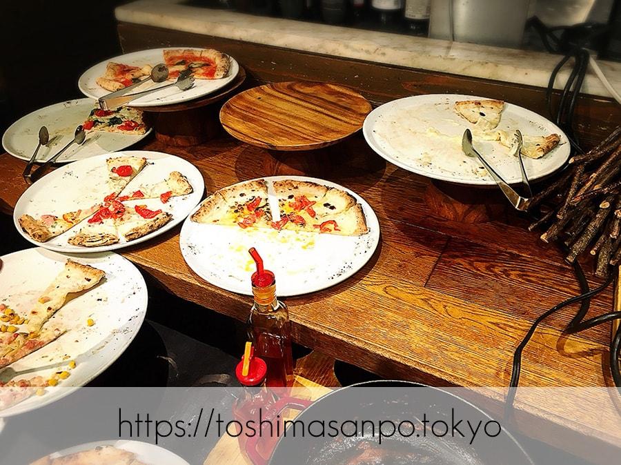 【池袋駅】イタリアン大量摂取!いつも混雑超人気ビュッフェ「サルヴァトーレ クオモ 池袋」のピザビュッフェ