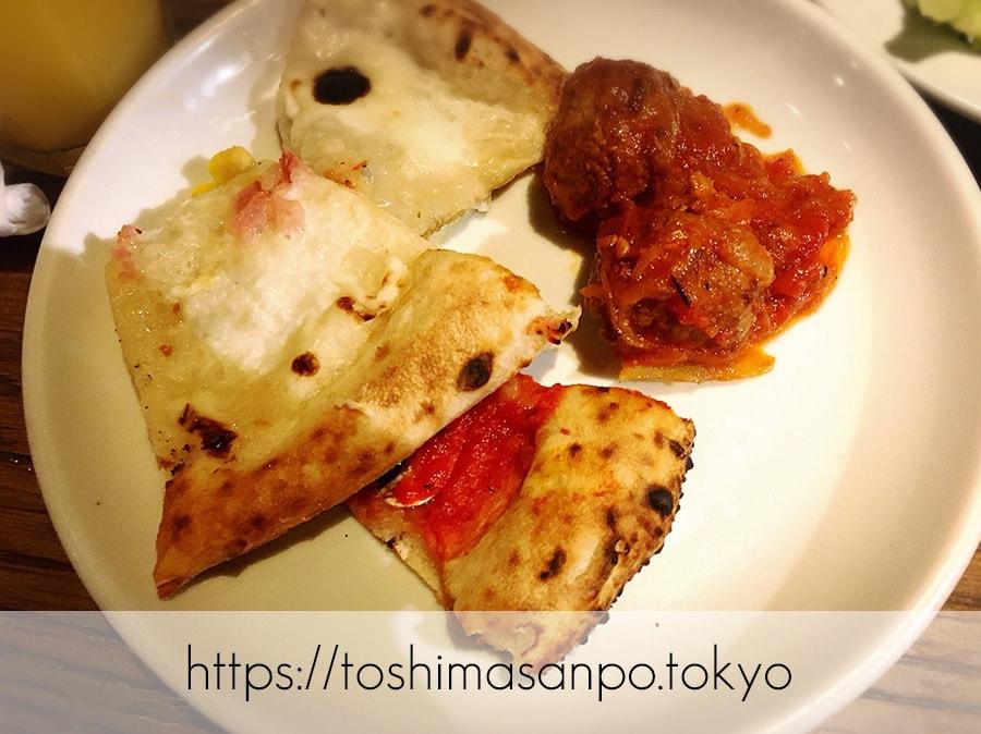 【池袋駅】イタリアン大量摂取!いつも混雑超人気ビュッフェ「サルヴァトーレ クオモ 池袋」のピザ2