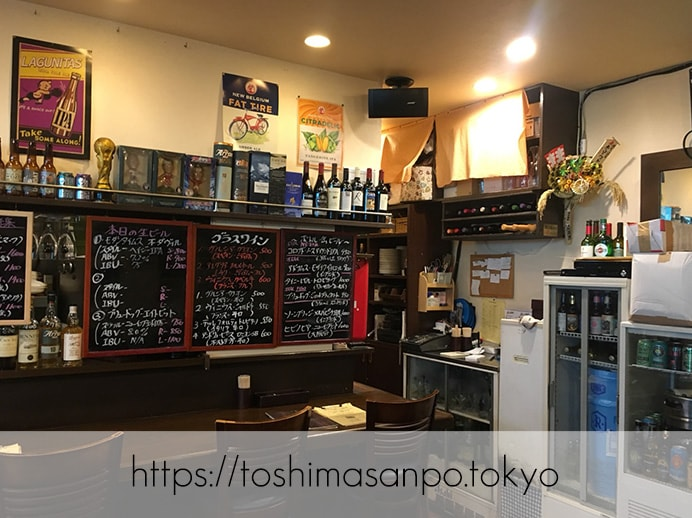 【大塚駅】欧風カレー超おすすめ!夜はオシャレなビアバーに。「Holyhead(ホーリーヘッド)」の店内1