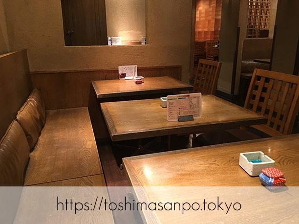 【池袋駅】いつも違う美味しいお蕎麦が楽しめる「宮城野」の店内