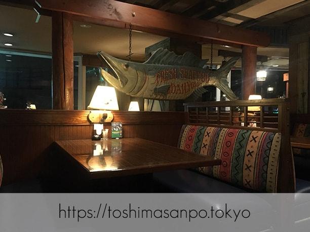 【上板橋駅】上質シーフードをロブスターの間近でいただく。水槽前で写真撮ろう「レッドロブスター」の店内2