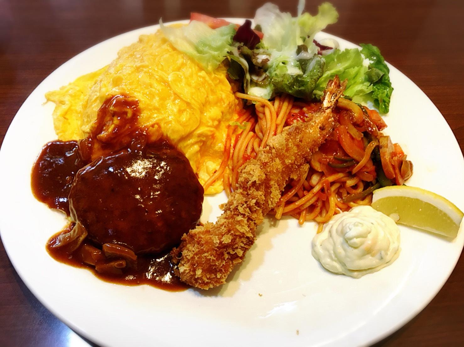 【上野駅】上野と言えば!の「じゅらく」で洋食とパンダパンケーキのじゅらく大人のお子さまプレート