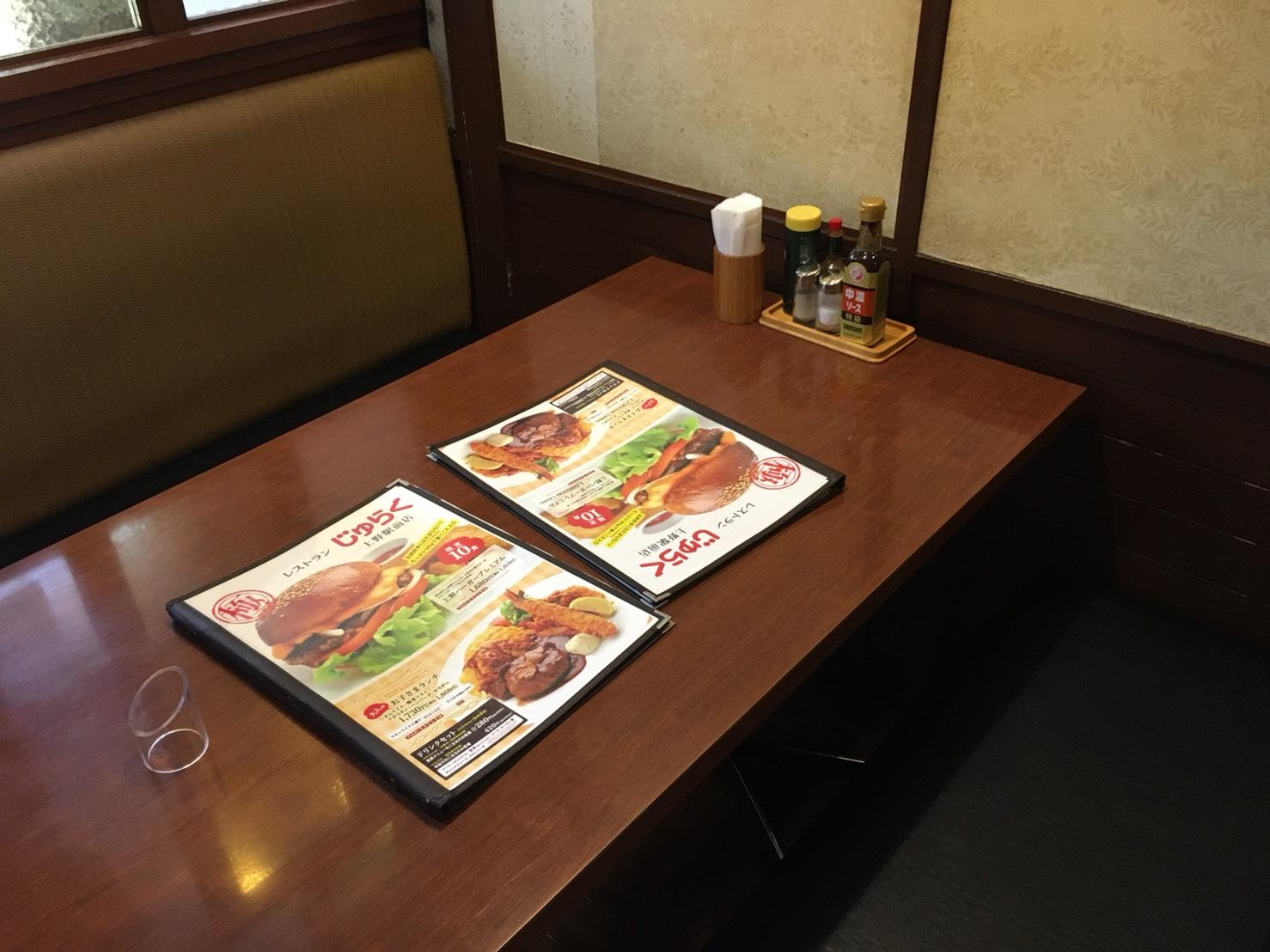 【上野駅】上野と言えば!の「じゅらく」で洋食とパンダパンケーキのじゅらく店内