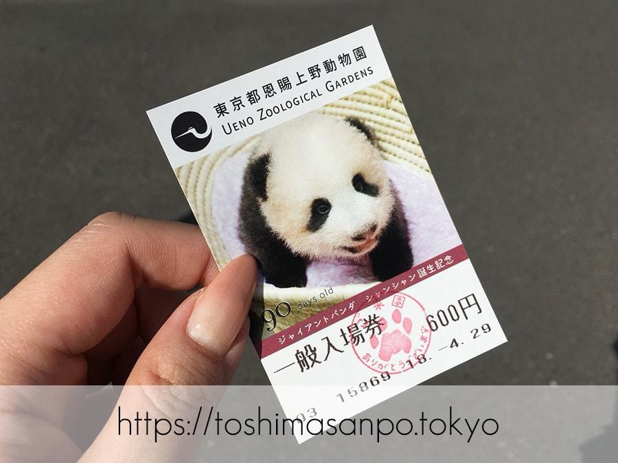 【上野駅】高速上野散歩を提案!大満足の絶品洋食「たいめいけん」のあとに上野動物園で超エンジョイの上野動物園のチケット