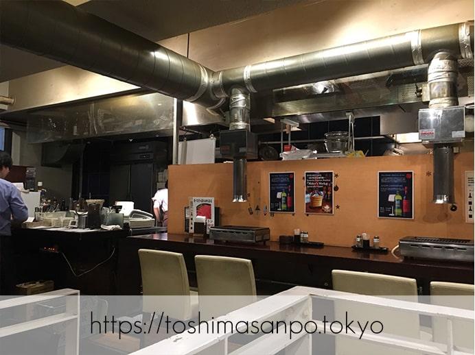 【池袋駅】最強クラスの焼肉発見!やみつき間違いなしの「和牛焼肉バルKURAMOTOクラモト」の店内(カウンター)