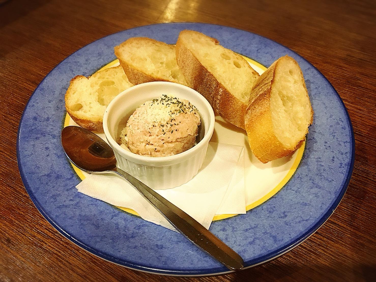 【池袋駅】おっとり系イタリアン「トラットリア・コン・アマーレ」の生ハムムースのパテ