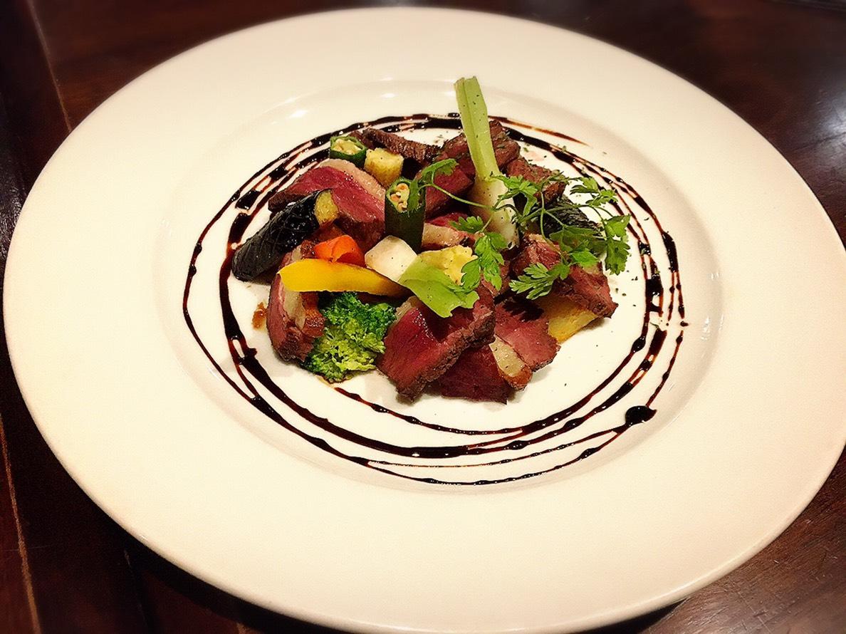 【池袋駅】いい感じのクセが後を引く「nobu」のイタリアンが愛情深い!の鴨胸肉のロースト バルサミコソース