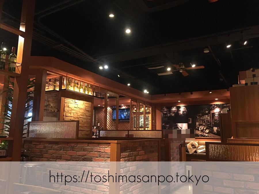 【大塚駅】コスパ悩ましい...カジュアルイタリアン「マイアミパティオ」の店内2