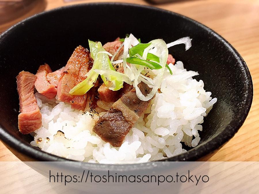 【池袋駅】肉がメイン!新感覚のローストビーフ油そば「ビースト 東池袋店」の無料の肉ご飯
