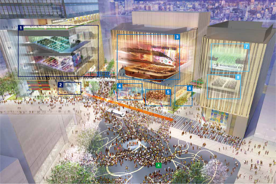 【池袋駅】2020年夏ハレザ池袋オープン前、現時点の公開情報2019①の8つの劇場空間イメージ