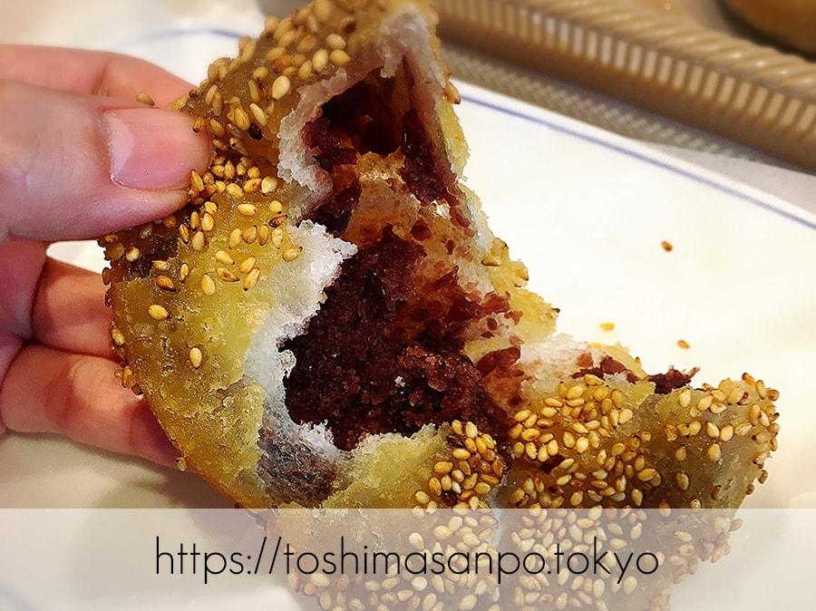 【池袋駅】毎日食べたい!「ヴィ・ド・フランス」のパン超愛してる!ヴィ・ド・フランスのもちもちゴマあんドーナツのズーム