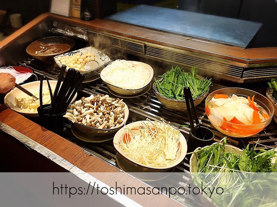【池袋駅】これは事件だ!日本人は美味しいごはんを食べるべき。しゃぶしゃぶビュッフェ「 しゃぶ菜」の野菜ビュフェ1