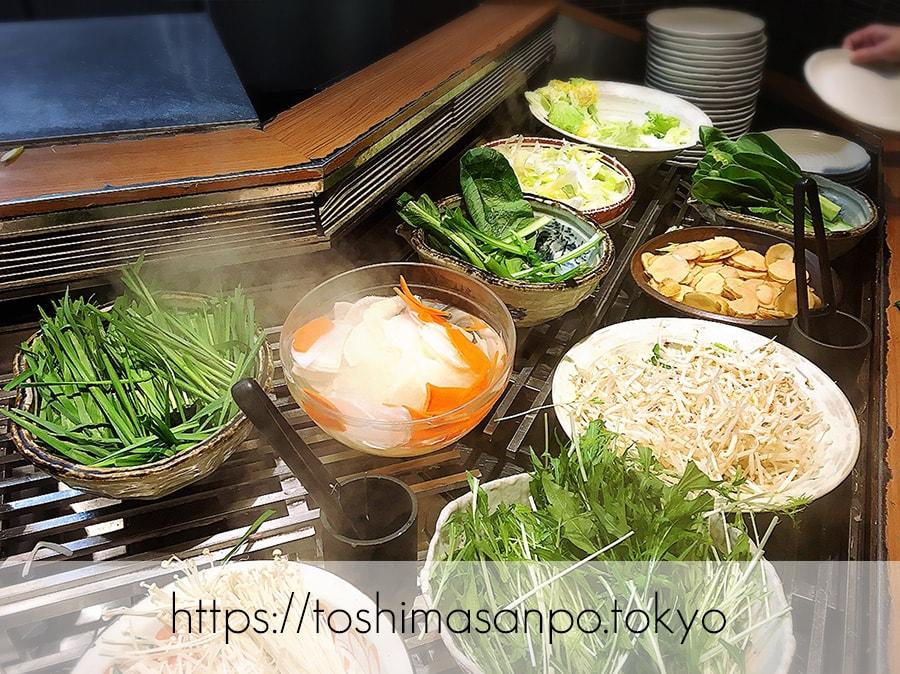 【池袋駅】これは事件だ!日本人は美味しいごはんを食べるべき。しゃぶしゃぶビュッフェ「 しゃぶ菜」の野菜ビュフェ2