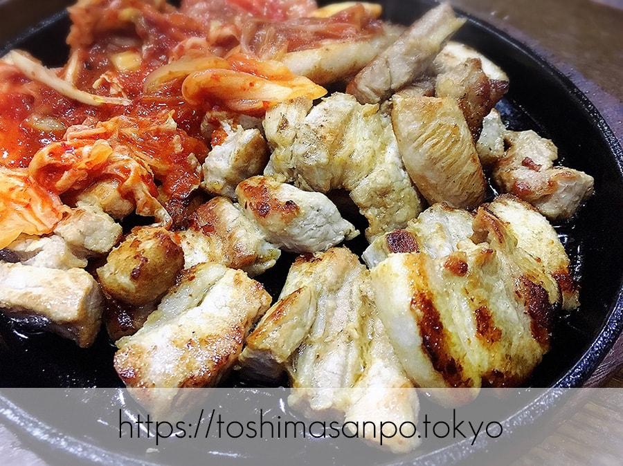 【池袋駅】気軽に手軽に安く韓国家庭料理が楽しめる「イモチャン」ニラチヂミがナイス!のサムギョプサル