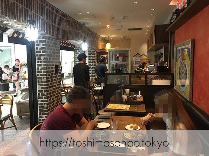 【池袋駅】ありそうでなかった!カフェ利用もできる手軽な洋食ビストロ「ティガボンボン」の店内