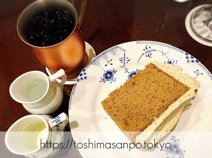 【池袋駅】ハイマート跡に「椿屋カフェ」オープン!クレミア生クリームソフトが食べられるう〜♡のプレミア紅茶シフォンのセット