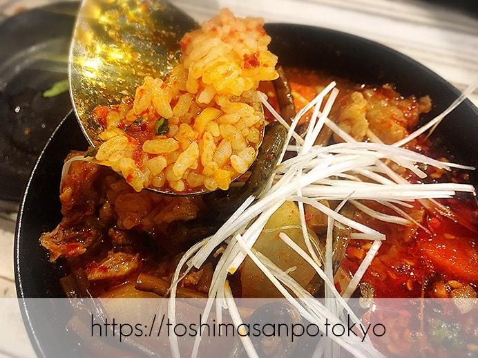【大塚駅】独特な下味のお肉がなるほど美味しい!終戦のヤミ市から続く老舗焼肉「とらじ亭」のテグタンスープ(クッパ)2