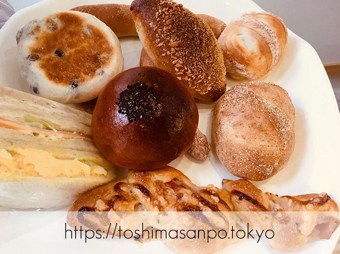 【大塚駅】お手頃パン食べつくしたい♡イートインもあるよ。6月開店「ベーカリーランド北大塚」の選んだパン