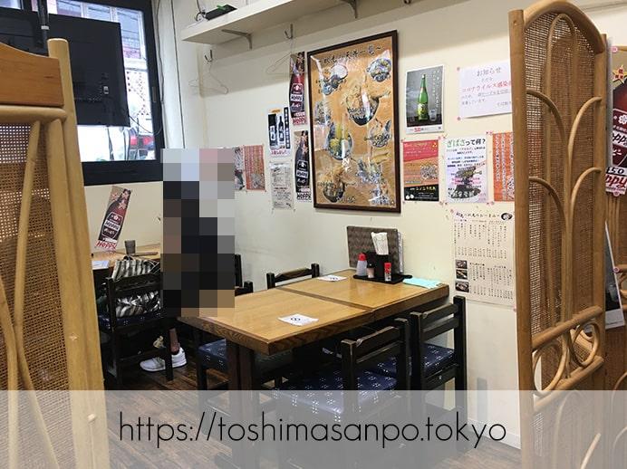 【大塚駅】店名変わって一新・サックリ天ぷらが美味しい&変わり蕎麦たくさんの「天麩羅秋光 大塚店」の店内