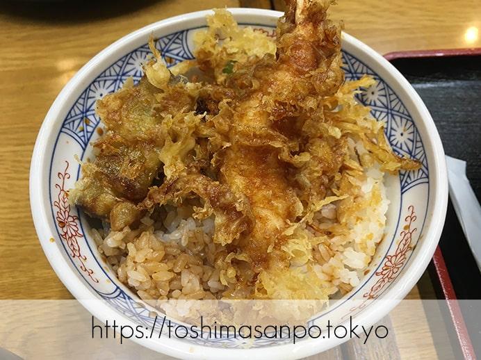 【大塚駅】店名変わって一新・サックリ天ぷらが美味しい&変わり蕎麦たくさんの「天麩羅秋光 大塚店」の小天丼